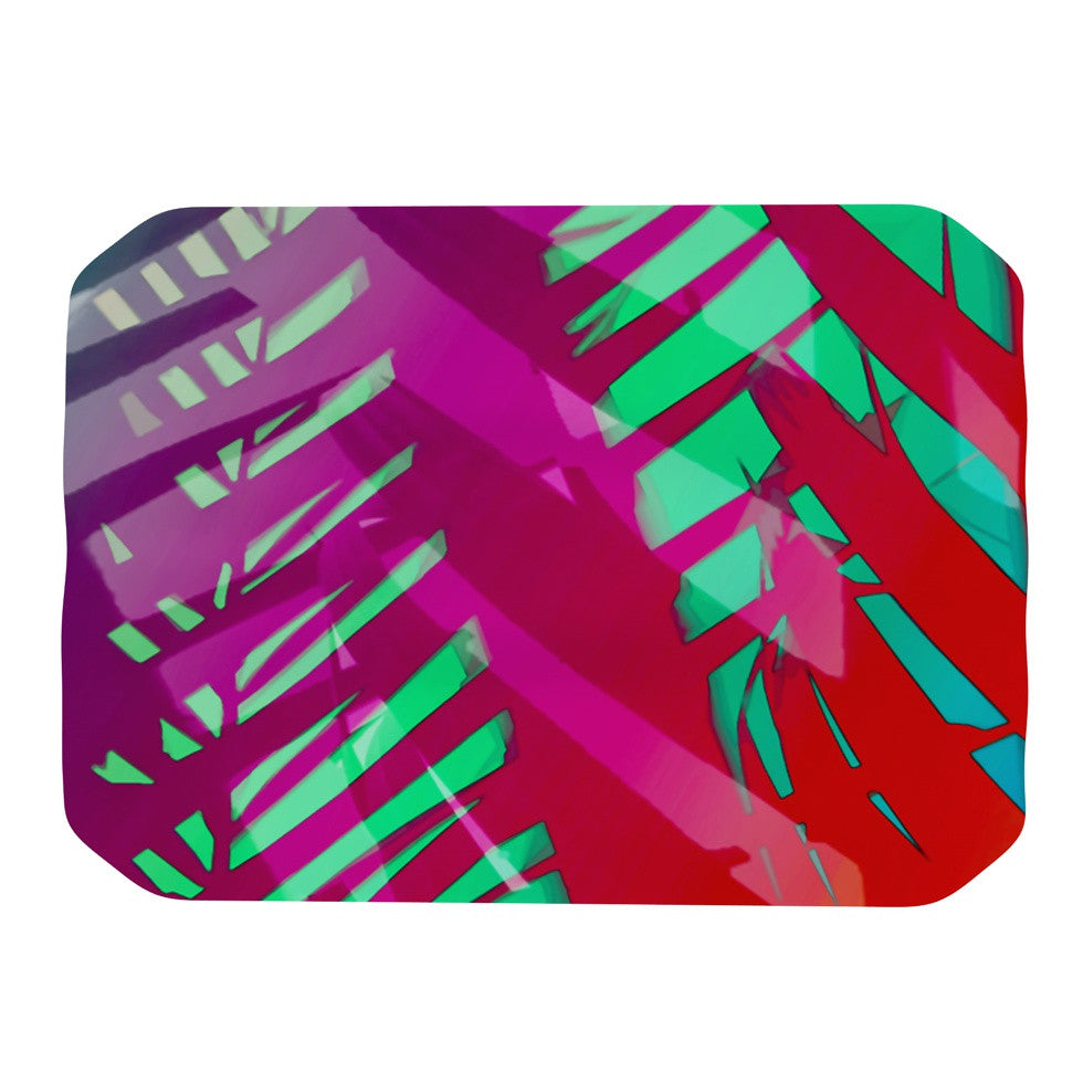 "Alison Coxon ""Hot Tropical"" Pink Red Place Mat - KESS InHouse"