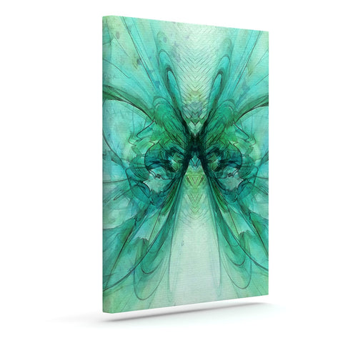 "Alison Coxon ""Butterfly Blue"" Green Black Outdoor Canvas Wall Art - KESS InHouse  - 1"