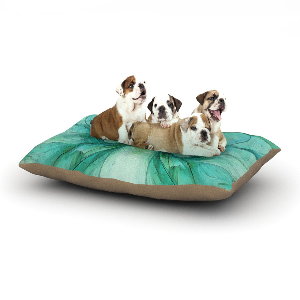 "Alison Coxon ""Butterfly Blue"" Green Black Dog Bed - KESS InHouse  - 1"
