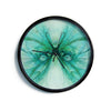 "Alison Coxon ""Butterfly Blue"" Green Black Modern Wall Clock"