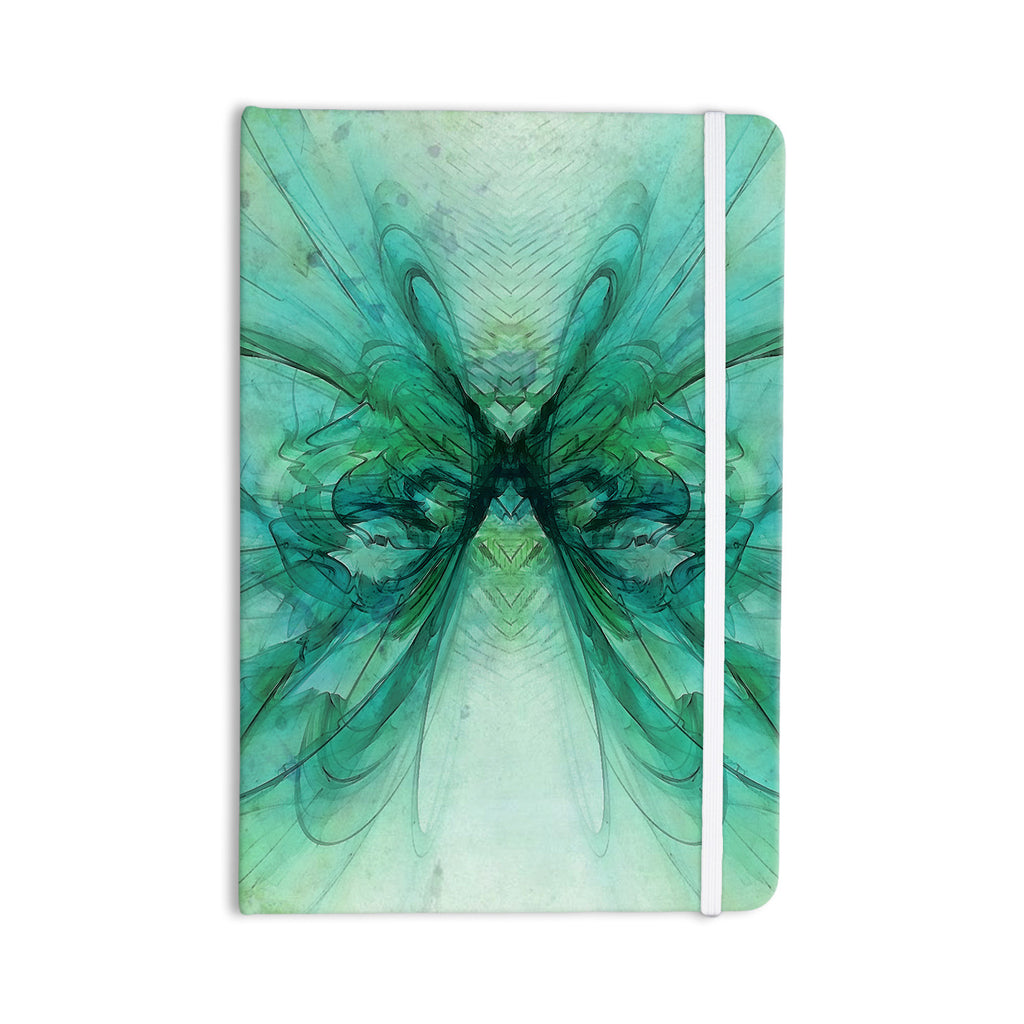 "Alison Coxon ""Butterfly Blue"" Green Black Everything Notebook - KESS InHouse  - 1"