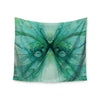 "Alison Coxon ""Butterfly Blue"" Green Black Wall Tapestry - KESS InHouse  - 1"