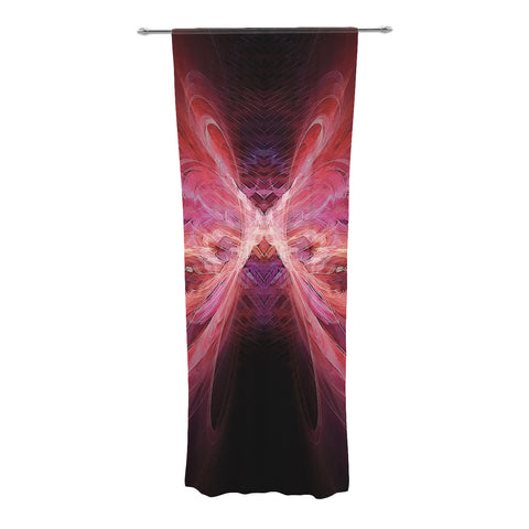 "Alison Coxon ""Butterfly Red"" Red Pink Decorative Sheer Curtain - KESS InHouse"