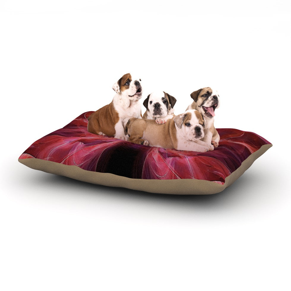 "Alison Coxon ""Butterfly Red"" Red Pink Dog Bed - KESS InHouse  - 1"