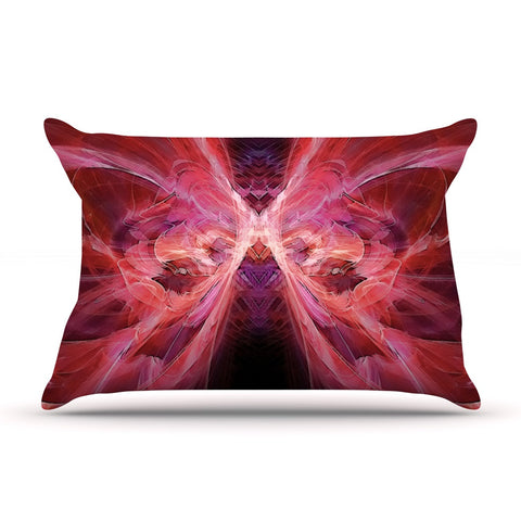 "Alison Coxon ""Butterfly Red"" Red Pink Pillow Sham - KESS InHouse  - 1"