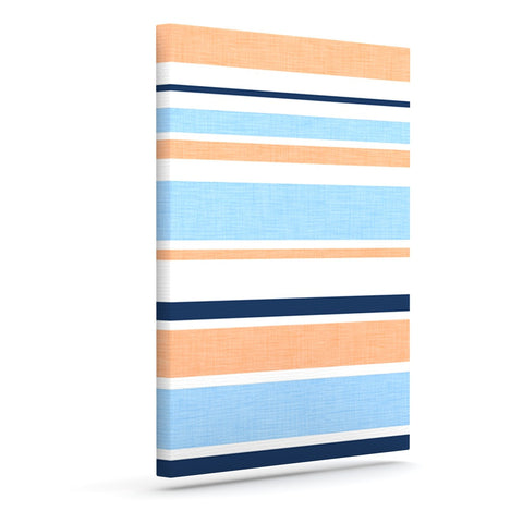 "Alison Coxon ""Jack Tar Pink"" Blue Orange Outdoor Canvas Wall Art - KESS InHouse  - 1"
