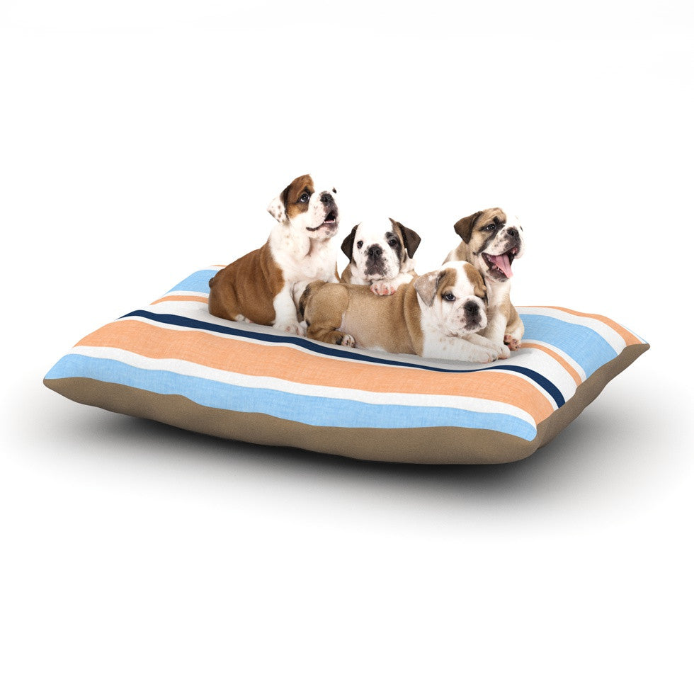 "Alison Coxon ""Jack Tar Pink"" Blue Orange Dog Bed - KESS InHouse  - 1"