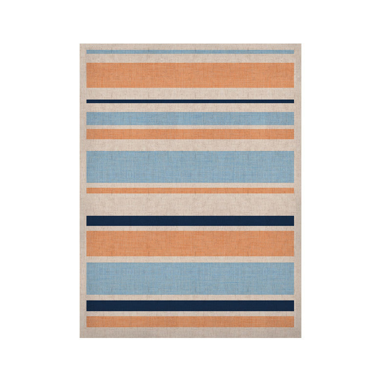 "Alison Coxon ""Jack Tar Pink"" Blue Orange KESS Naturals Canvas (Frame not Included) - KESS InHouse  - 1"