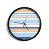 "Alison Coxon ""Jack Tar Pink"" Blue Orange Modern Wall Clock"
