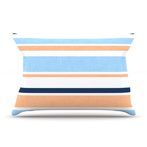 "Alison Coxon ""Jack Tar Pink"" Blue Orange Pillow Sham - KESS InHouse  - 1"