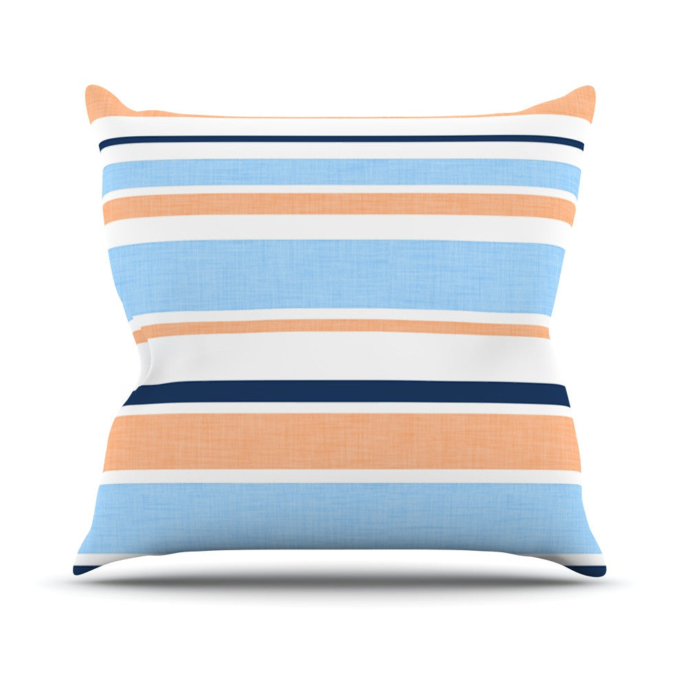 "Alison Coxon ""Jack Tar Pink"" Blue Orange Outdoor Throw Pillow - KESS InHouse  - 1"
