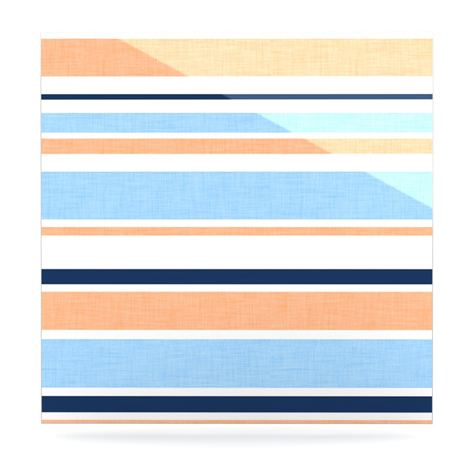 "Alison Coxon ""Jack Tar Pink"" Blue Orange Luxe Square Panel - KESS InHouse  - 1"