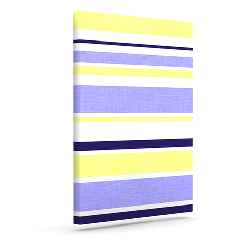 "Alison Coxon ""Jack Tar"" Purple Yellow Outdoor Canvas Wall Art - KESS InHouse  - 1"