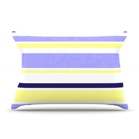 "Alison Coxon ""Jack Tar"" Purple Yellow Pillow Sham - KESS InHouse  - 1"