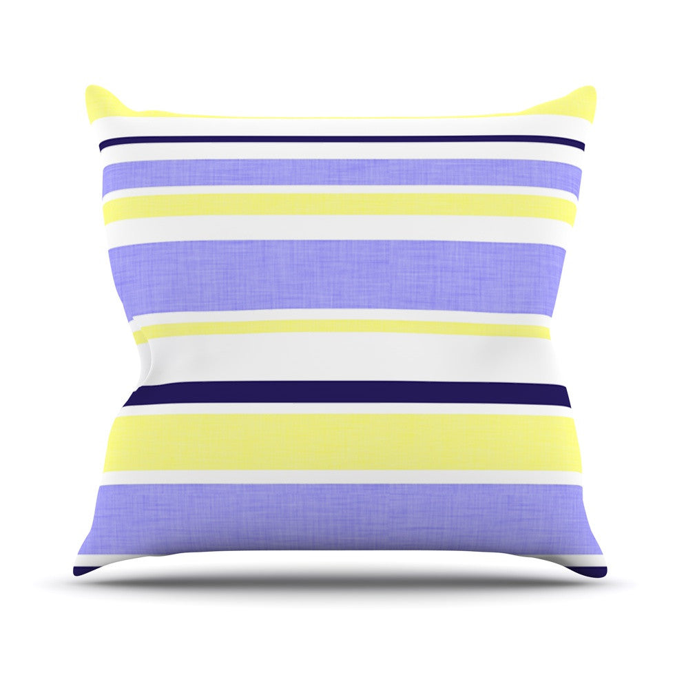 "Alison Coxon ""Jack Tar"" Purple Yellow Throw Pillow - KESS InHouse  - 1"