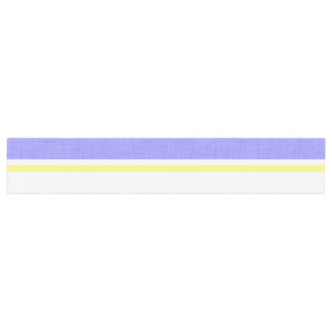 "Alison Coxon ""Jack Tar"" Purple Yellow Table Runner - KESS InHouse  - 1"