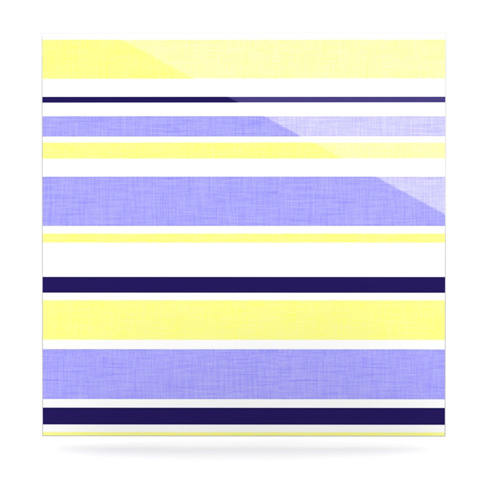 "Alison Coxon ""Jack Tar"" Purple Yellow Luxe Square Panel - KESS InHouse  - 1"