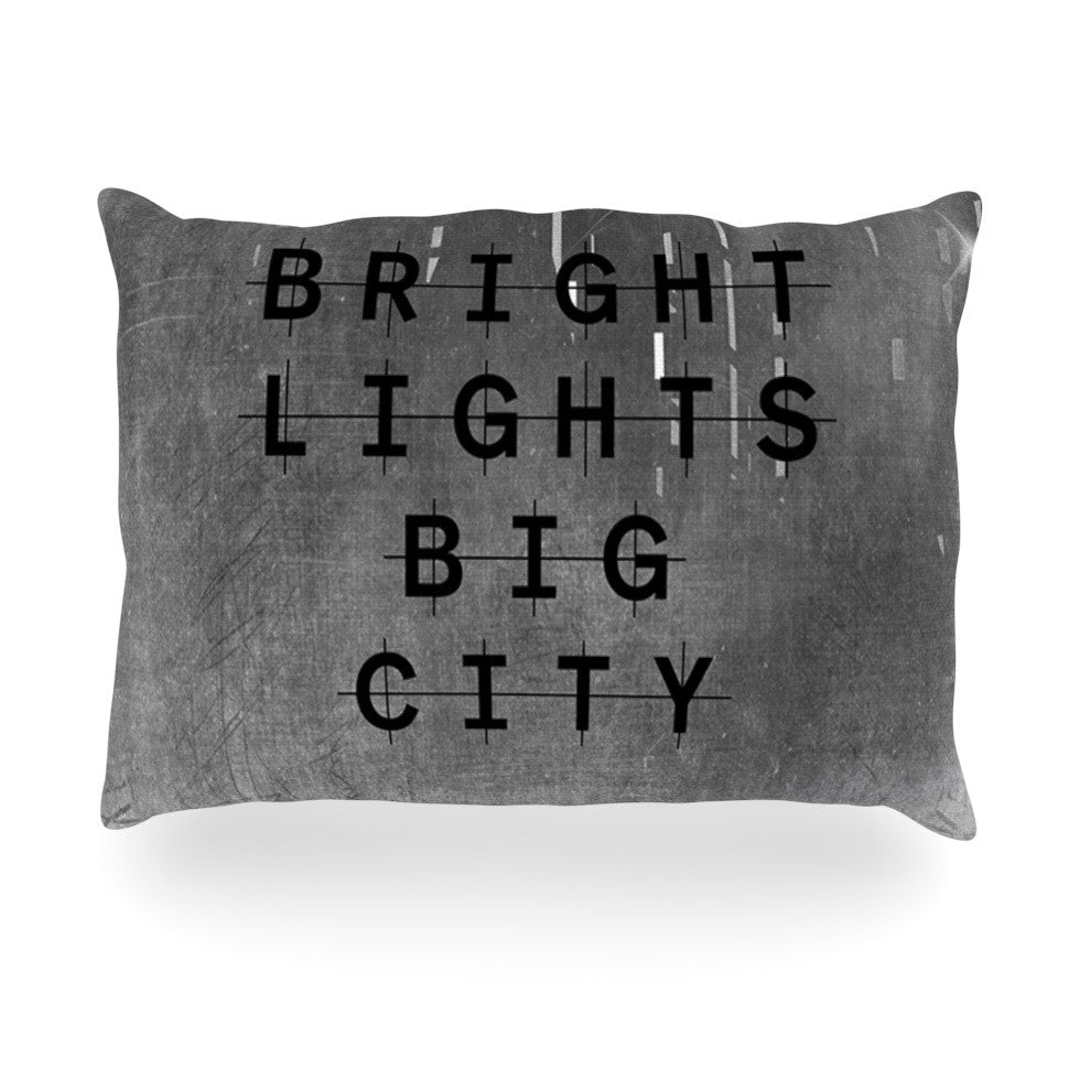 "Alison Coxon ""Bright Lights"" Dark City Oblong Pillow - KESS InHouse"