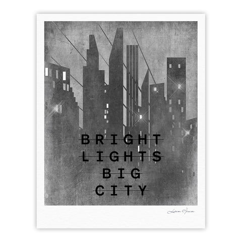 "Alison Coxon ""Bright Lights"" Dark City Fine Art Gallery Print - KESS InHouse"