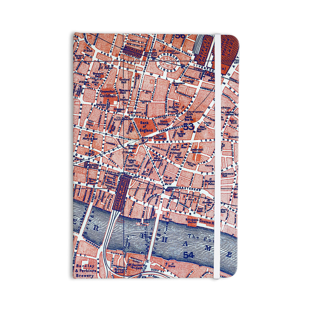 "Alison Coxon ""City Of London"" Map Everything Notebook - KESS InHouse  - 1"