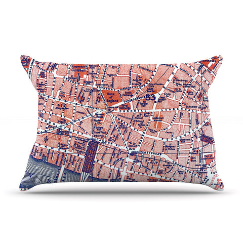 "Alison Coxon ""City Of London"" Map Pillow Sham - KESS InHouse  - 1"