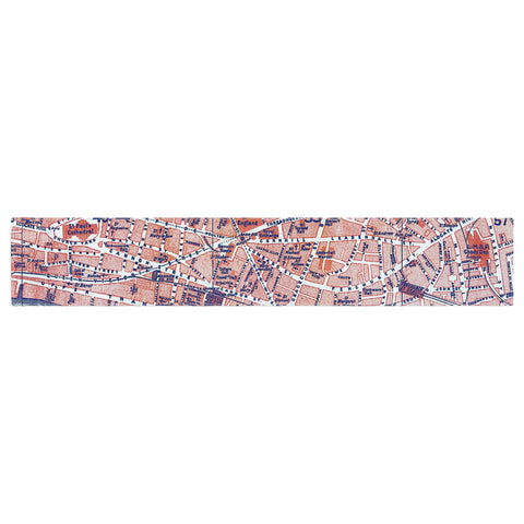 "Alison Coxon ""City Of London"" Map Table Runner - KESS InHouse  - 1"