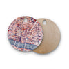 "Alison Coxon ""City Of London"" Map Round Wooden Cutting Board"