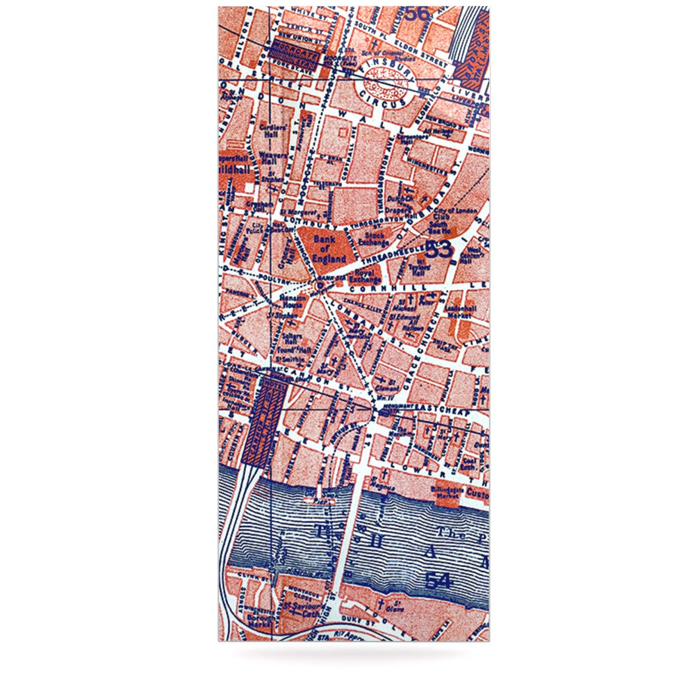 "Alison Coxon ""City Of London"" Map Luxe Rectangle Panel - KESS InHouse  - 1"