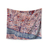 "Alison Coxon ""City Of London"" Map Wall Tapestry - KESS InHouse"