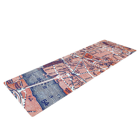 "Alison Coxon ""City Of London"" Map Yoga Mat - KESS InHouse  - 1"