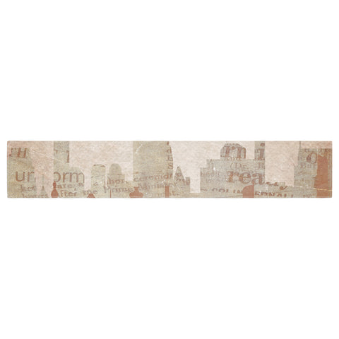 "Alison Coxon ""City"" Warm Tan Table Runner - KESS InHouse  - 1"