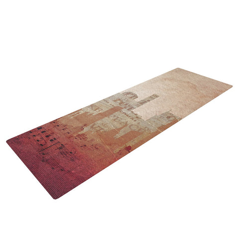 "Alison Coxon ""City"" Warm Tan Yoga Mat - KESS InHouse"