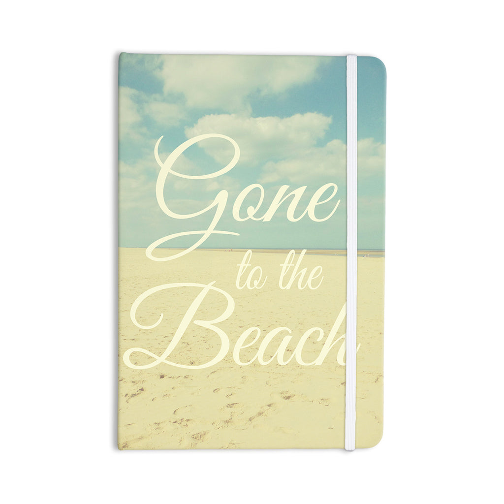 "Alison Coxon ""Gone To The Beach"" Tan Blue Everything Notebook - KESS InHouse  - 1"