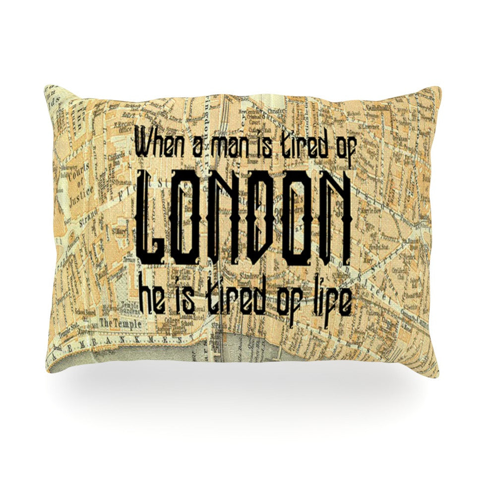 "Alison Coxon ""London Type"" Map Oblong Pillow - KESS InHouse"