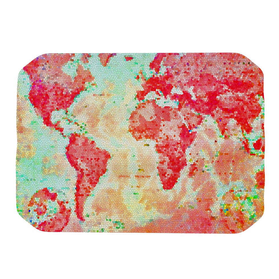 "Alison Coxon ""Oh The Places We'll Go"" World Map Place Mat - KESS InHouse"