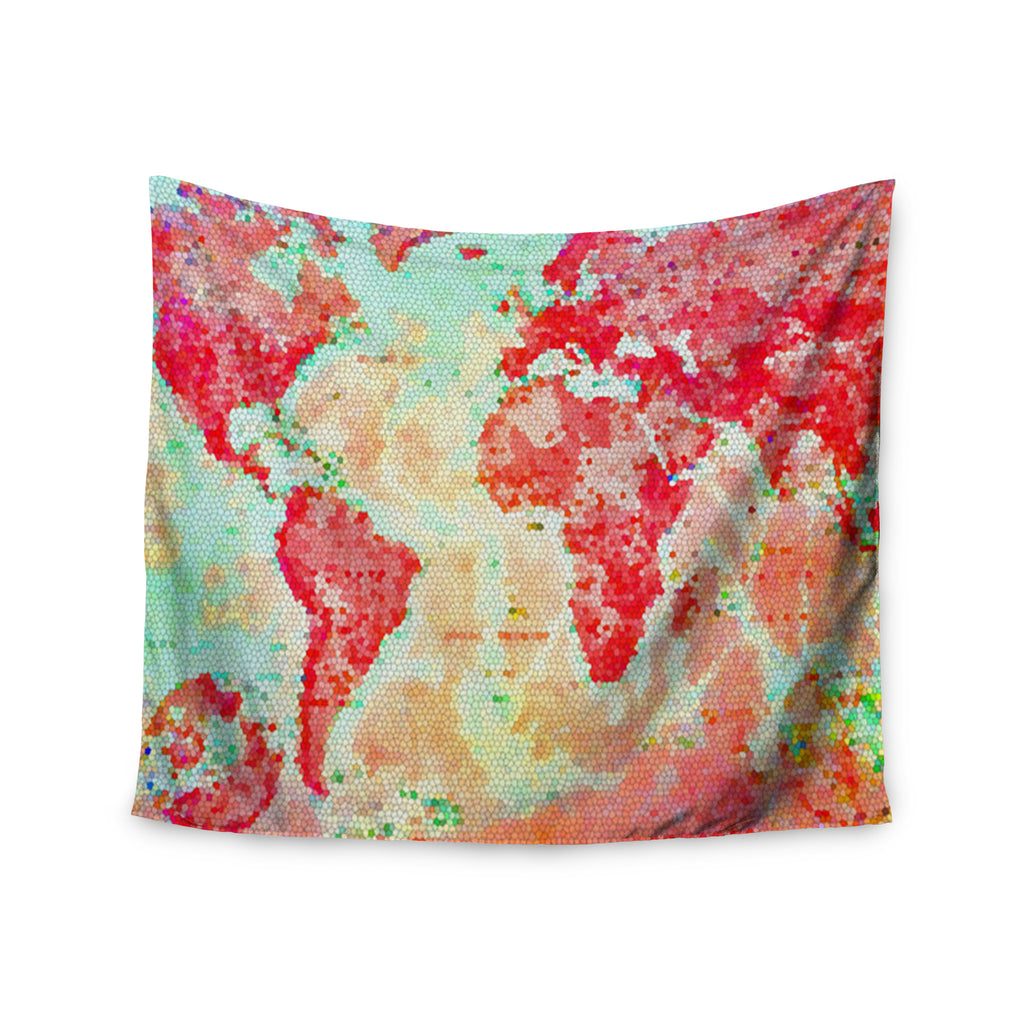 "Alison Coxon ""Oh The Places We'll Go"" World Map Wall Tapestry - KESS InHouse  - 1"