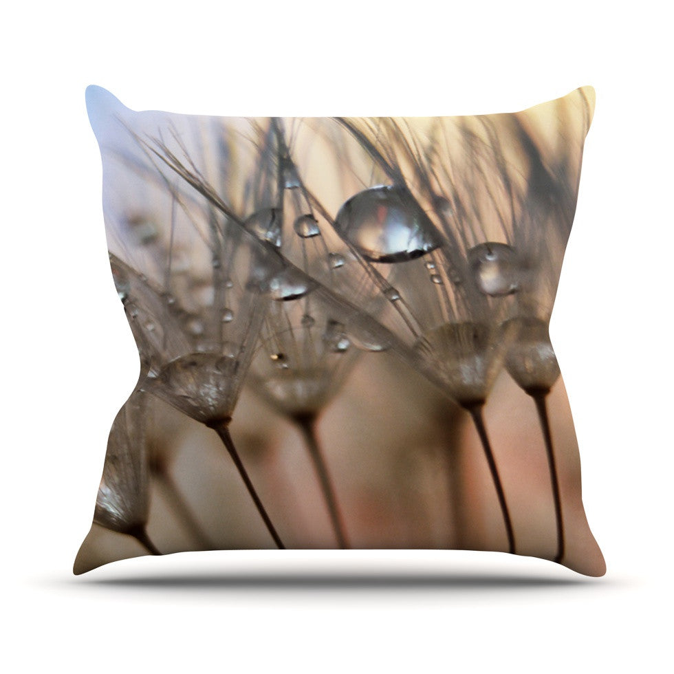 "Alison Coxon ""Trinkets"" Flower Outdoor Throw Pillow - KESS InHouse  - 1"
