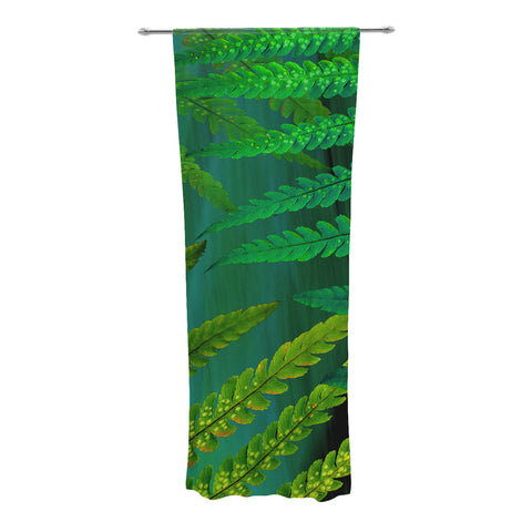 "Alison Coxon ""Forest Fern Green"" Plant Decorative Sheer Curtain - KESS InHouse"