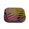 "Alison Coxon ""Forest Fern Mauve"" Pink Brown Coasters (Set of 4)"