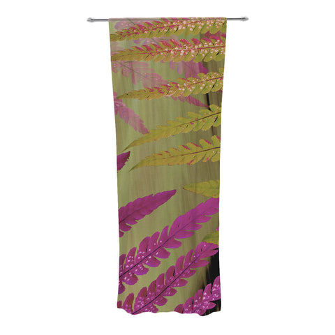 "Alison Coxon ""Forest Fern Mauve"" Pink Brown Decorative Sheer Curtain - KESS InHouse"