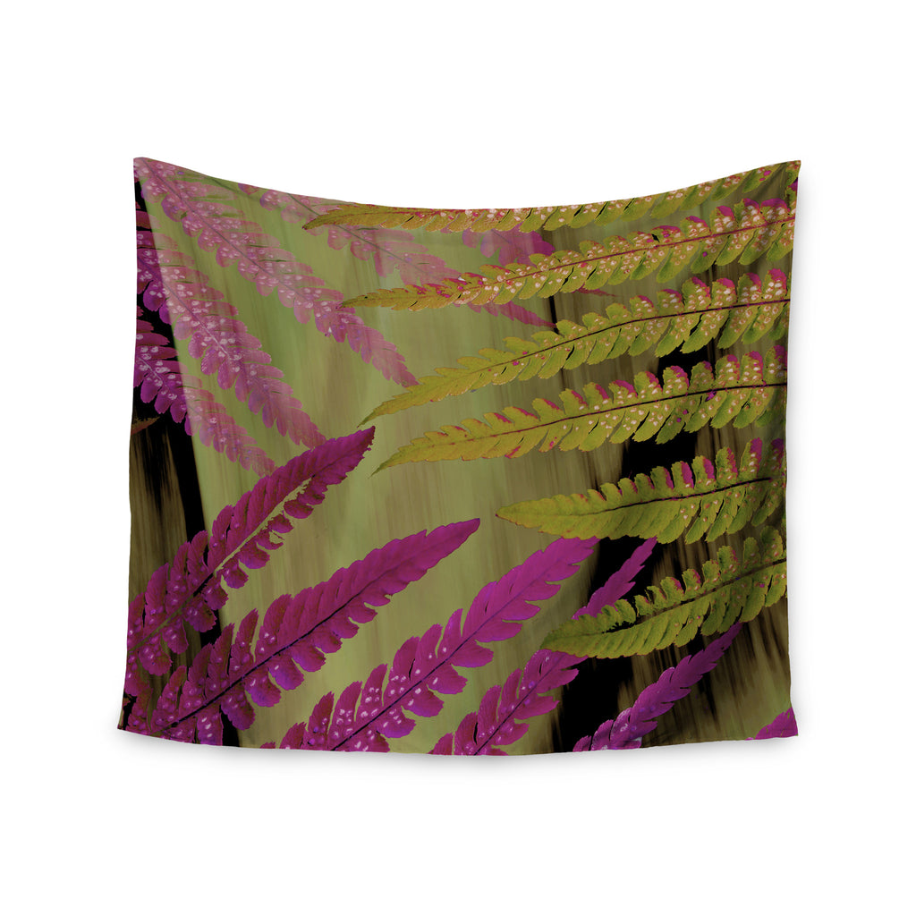 "Alison Coxon ""Forest Fern Mauve"" Pink Brown Wall Tapestry - KESS InHouse  - 1"