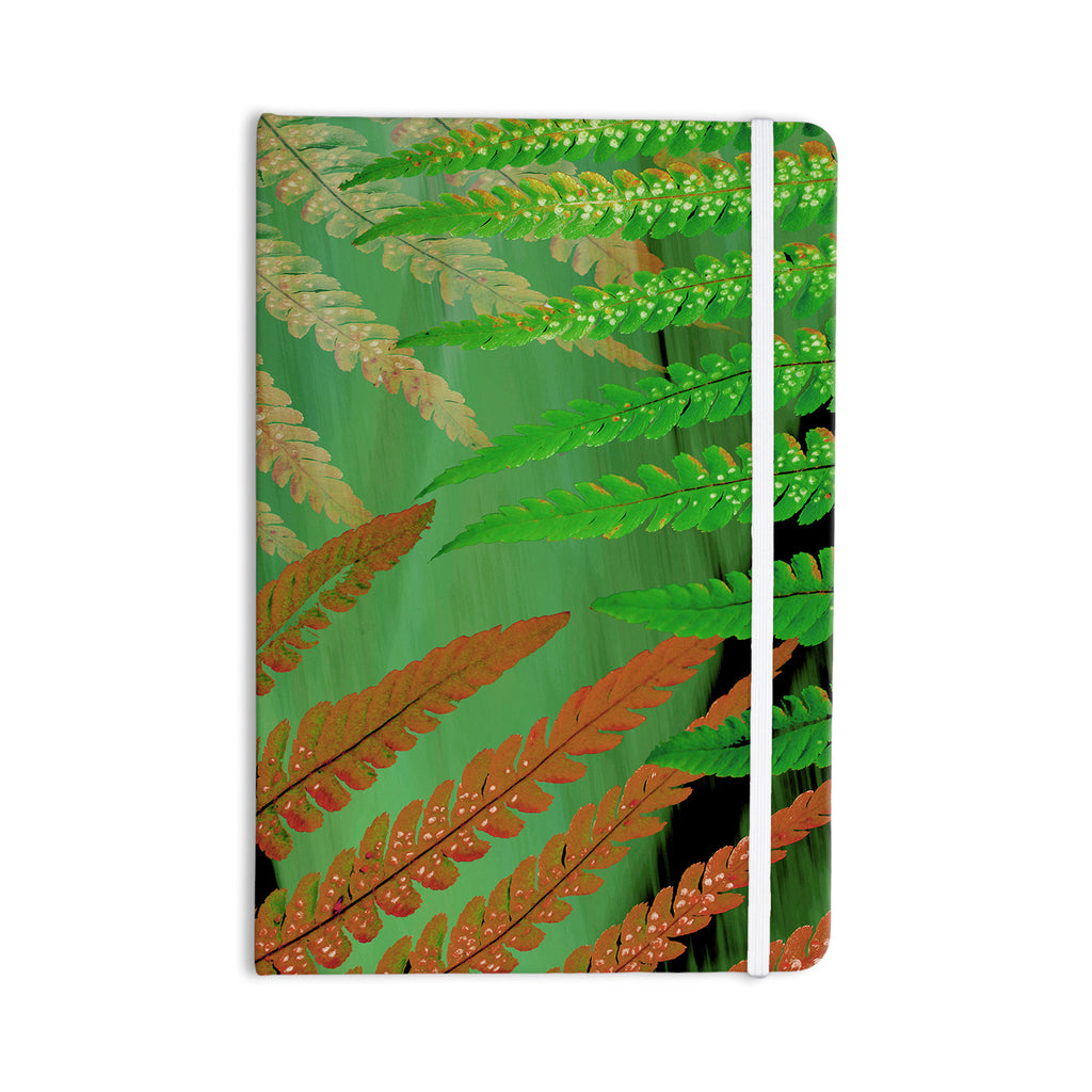 "Alison Coxon ""Forest Fern Russet"" Green Brown Everything Notebook - KESS InHouse  - 1"