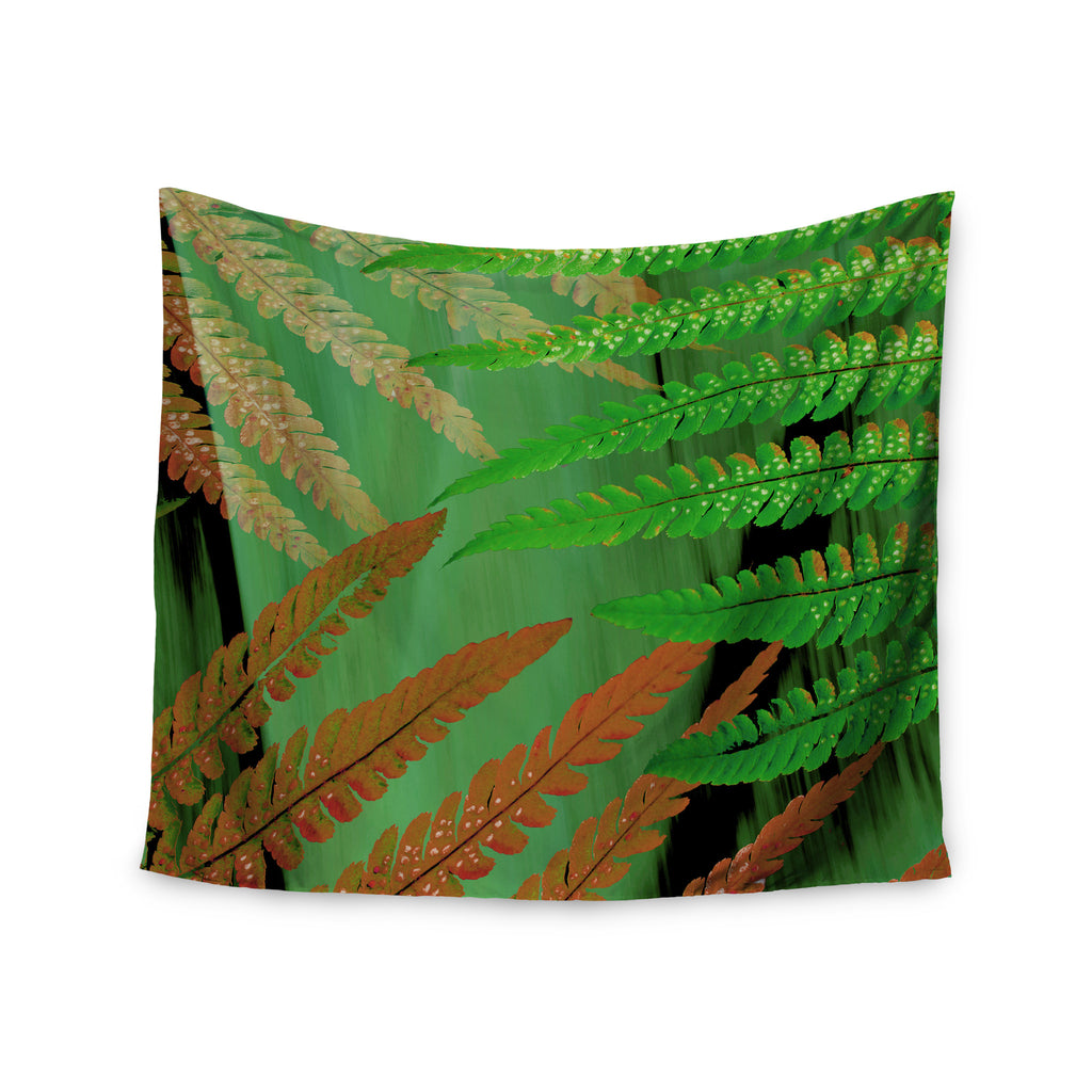 "Alison Coxon ""Forest Fern Russet"" Green Brown Wall Tapestry - KESS InHouse  - 1"