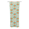 "Alison Coxon ""Moorish Teal"" White Teal Decorative Sheer Curtains - KESS InHouse"