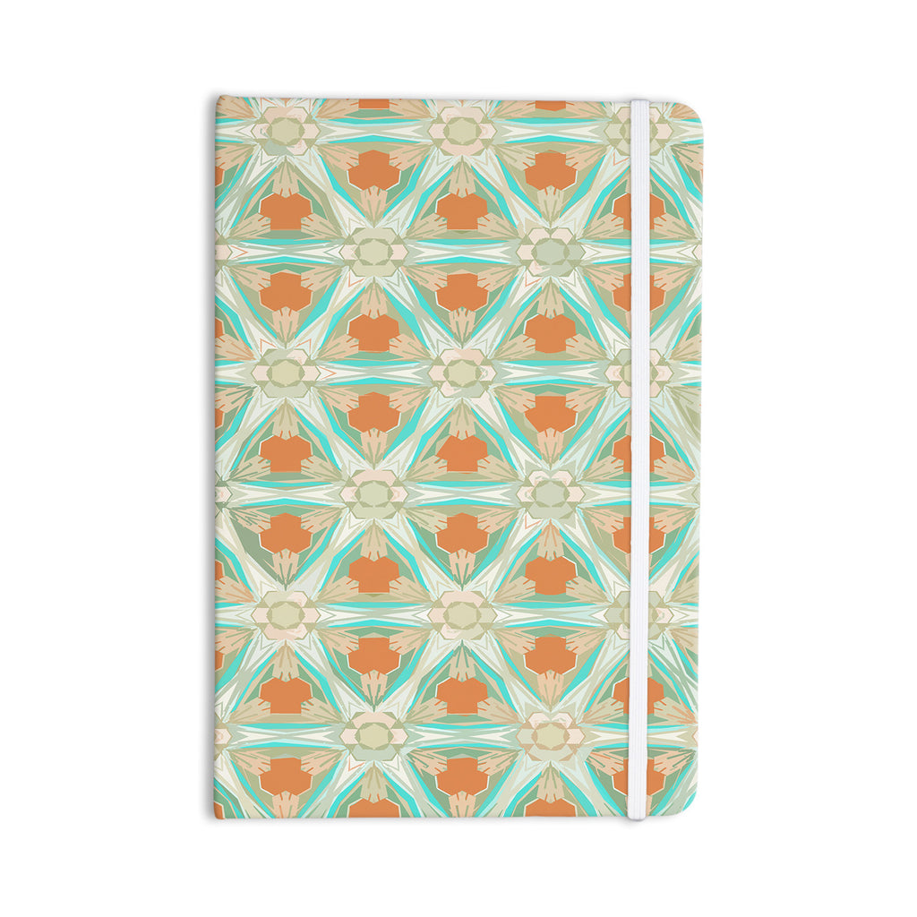 "Alison Coxon ""Moorish Teal"" White Teal Everything Notebook - KESS InHouse  - 1"