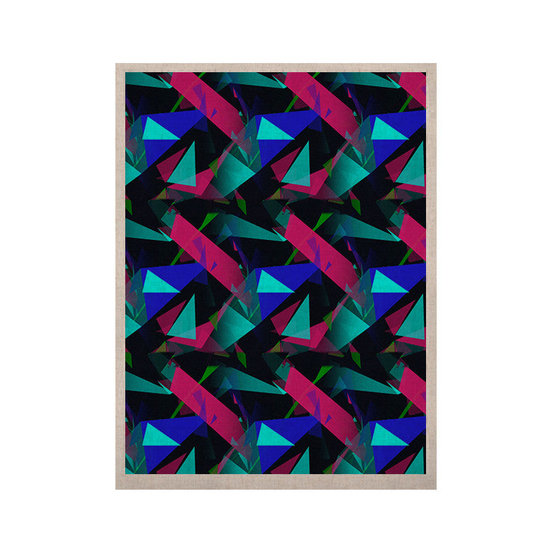 "Alison Coxon ""Confetti Triangles Dark"" Magenta Blue KESS Naturals Canvas (Frame not Included) - KESS InHouse  - 1"
