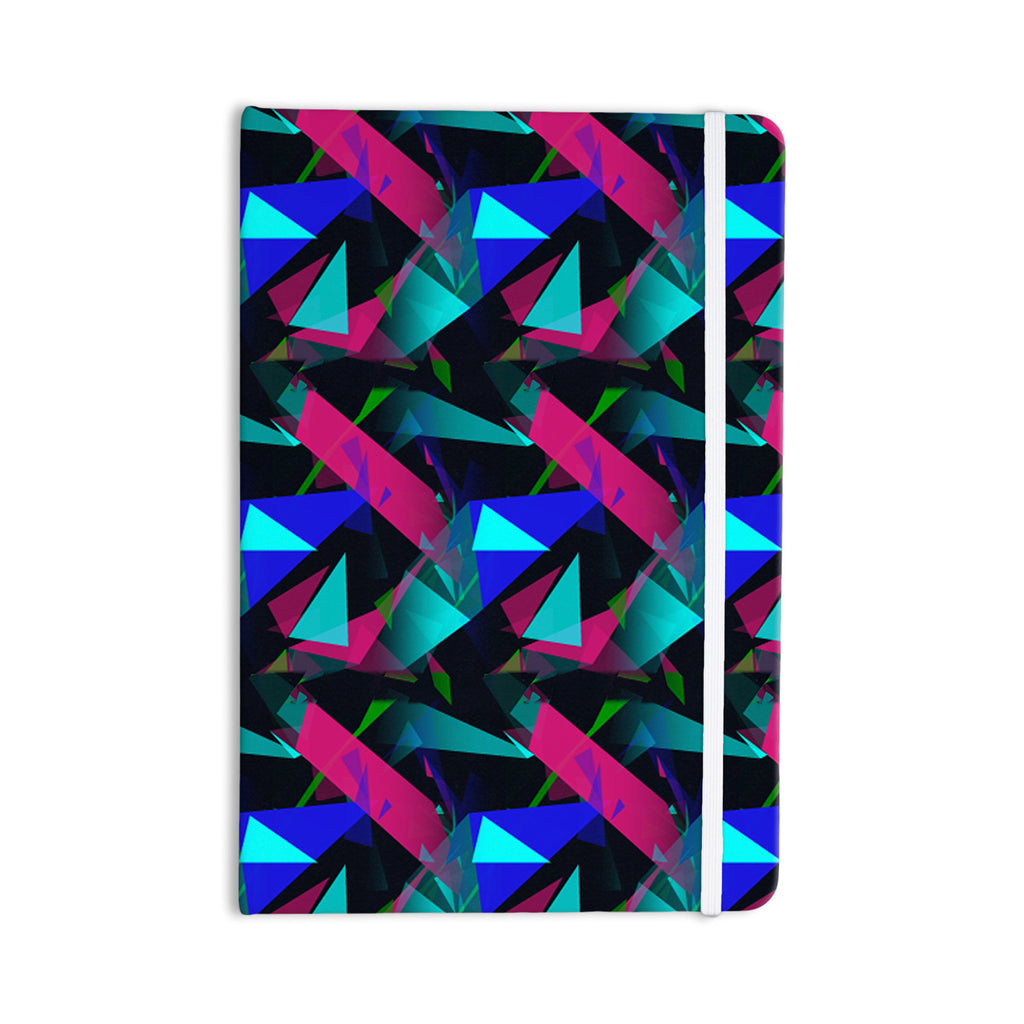 "Alison Coxon ""Confetti Triangles Dark"" Magenta Blue Everything Notebook - KESS InHouse  - 1"