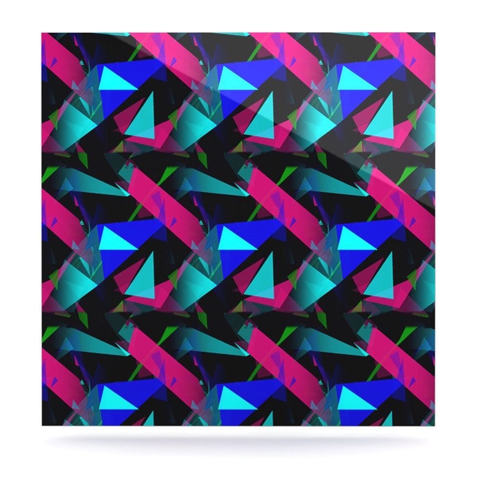 "Alison Coxon ""Confetti Triangles Dark"" Magenta Blue Luxe Square Panel - KESS InHouse  - 1"