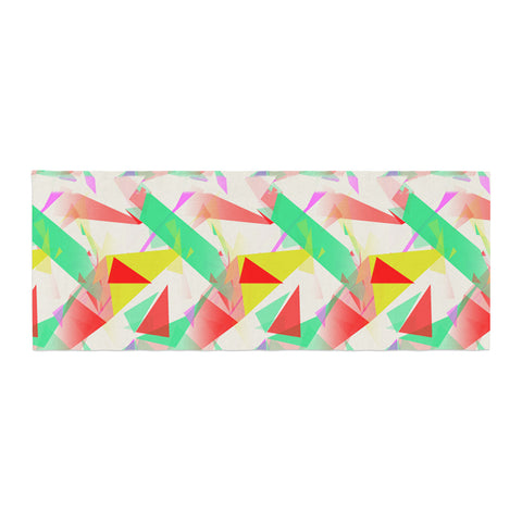 "Alison Coxon ""Confetti Triangles Red"" Green Red Bed Runner - KESS InHouse"