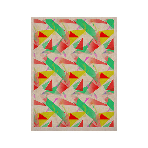"Alison Coxon ""Confetti Triangles Red"" Green Red KESS Naturals Canvas (Frame not Included) - KESS InHouse  - 1"